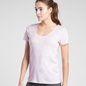 Athleta Light Pink Short Sleeve Top